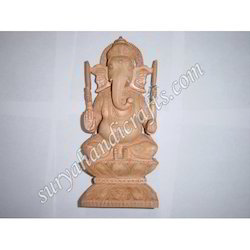 Wooden Ganesh Sitting