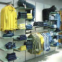 Apparel Racks On Wall Panel