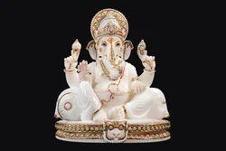GA-4028 White Ganesha Statue