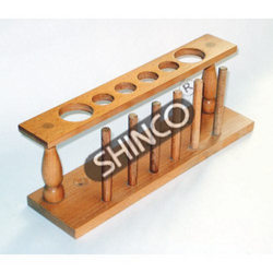 Test Tube Support, Wooden, Six Places