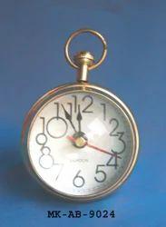 MKI Brass Polish Table Clock, Packaging Type: Bubble Packing, Shape: Custom