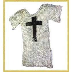 Plain Chainmail Suit With Black Cross