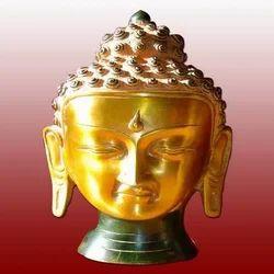 Brass Buddha Head Statues