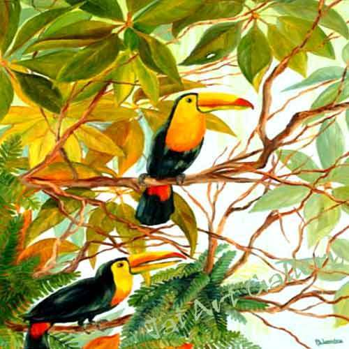 Canvas Oil Paintings Birds Canvas Paintings Service