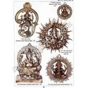 Brass Simhasan Round Ganesha Wall Plate