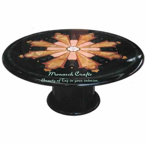 Monarch Crafts Black Stone Table Bases