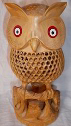 Wooden Handcrafted Owls