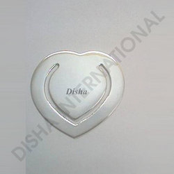 Sterling Silver Heart Book Marks