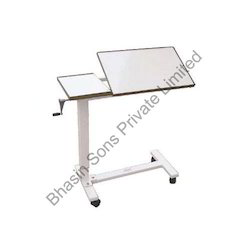 Overbed Table Adjustable By Gear Handle