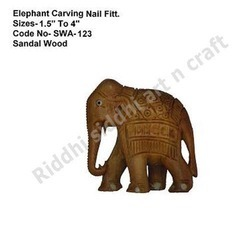 Sandalwood Elephant Carving