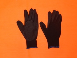 Black PU Coated Hand Gloves