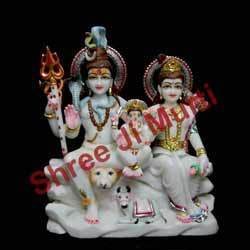 God Shankar Parwati Marble Statue