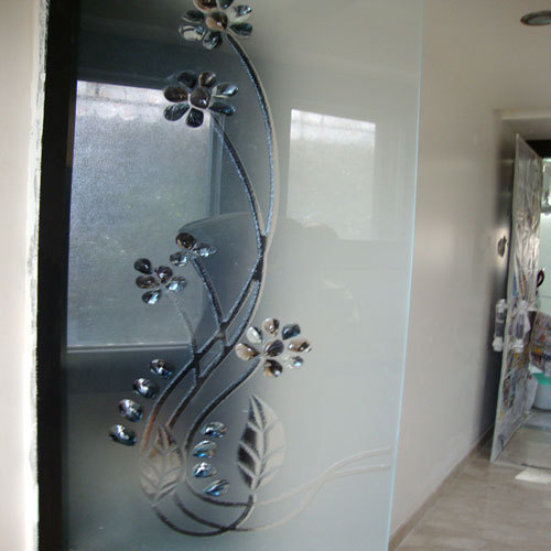 Etched Glass Interior Decorative Glasses Sant Nagar Road Delhi