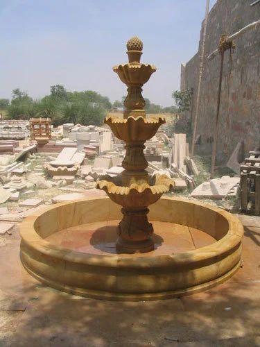 Stone Water Fountain Three Tier Stone Fountain