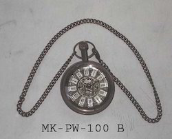 Antique Finish Metal Gandhi Watch