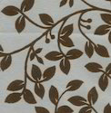 White Cotton Floral Design Flock Printed Handmade Papers, Gsm: Less Than 80