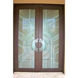 Etched Frosted Glass Doors
