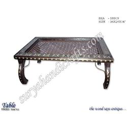 Wooden Table With Iron Net