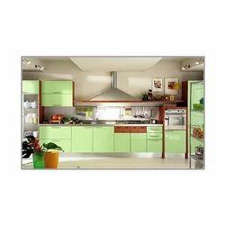 Straight Modular Kitchen Furniture, Warranty: 1-5 Years