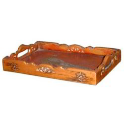 Copper Finished Embossed Tray M-7011
