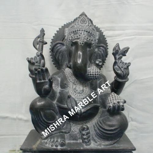 Lord Ganesha Statue Black Marble Ganesha Moorti Exporter From Jaipur