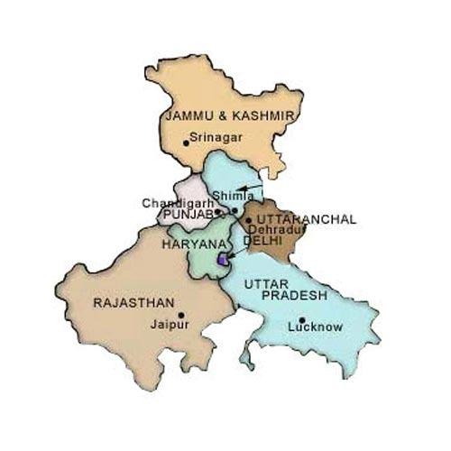 Punjab haryana joint map software