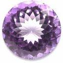 Amethyst Round Cut Gemstone