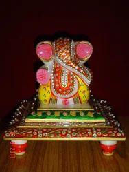 Marble Double Chowki Ganesha