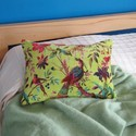 Bird Print Yellow Cushion Pillow Covers