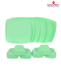 6 Pcs Full Square Plates / Veg Bowls
