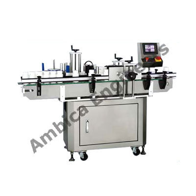 Ambica Engineers Automatic Sticker Labeling Machine, Capacity: Up To 120 Bottle/ Min