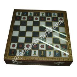 Wooden Gem Stone Chess