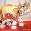 Painting Elephant Statue