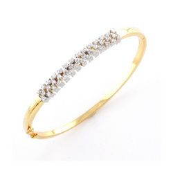 natural round item cut white ct caimao gold emerald diamond rose bangles full bracelet