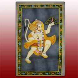 Hanuman Silk Paintings