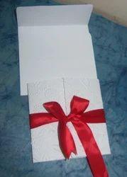Multicolor Custom Embossed Paper Wedding Invites