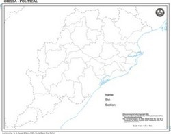 Odisha Outline For State Map