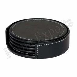 Leather Coaster Set Holder