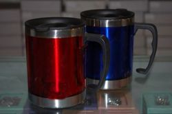 Double walled SS Sipper Mug with Lid