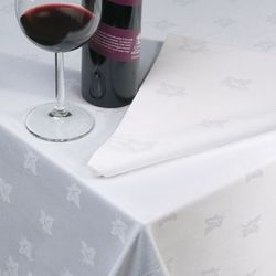 White Damask Table Cover