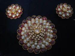 Polki pendant set in jaipur rajasthan manufacturers suppliers kundan polki pendant set aloadofball Choice Image