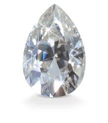 Pear Shape Moissanite Diamond