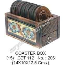 Wooden Coaster Box