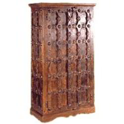 Carved Old Door Style 3 Side CupBoard