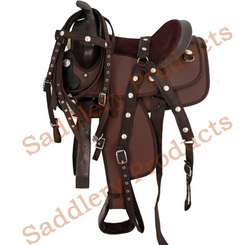 Western Saddles - Brown Synthetic Western Saddle