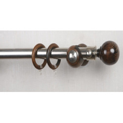 Curtain Rod 25mm - Stainless Steel And Antique