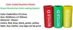 Color Coded Plastic Bins, Size: 72l