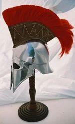 Corinthian Helmet In Steel With Crest