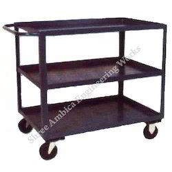 Ambica Mild Steel Tray Trolley