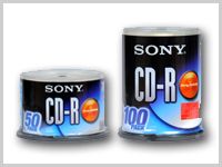 sony cd 50 and 100 packs